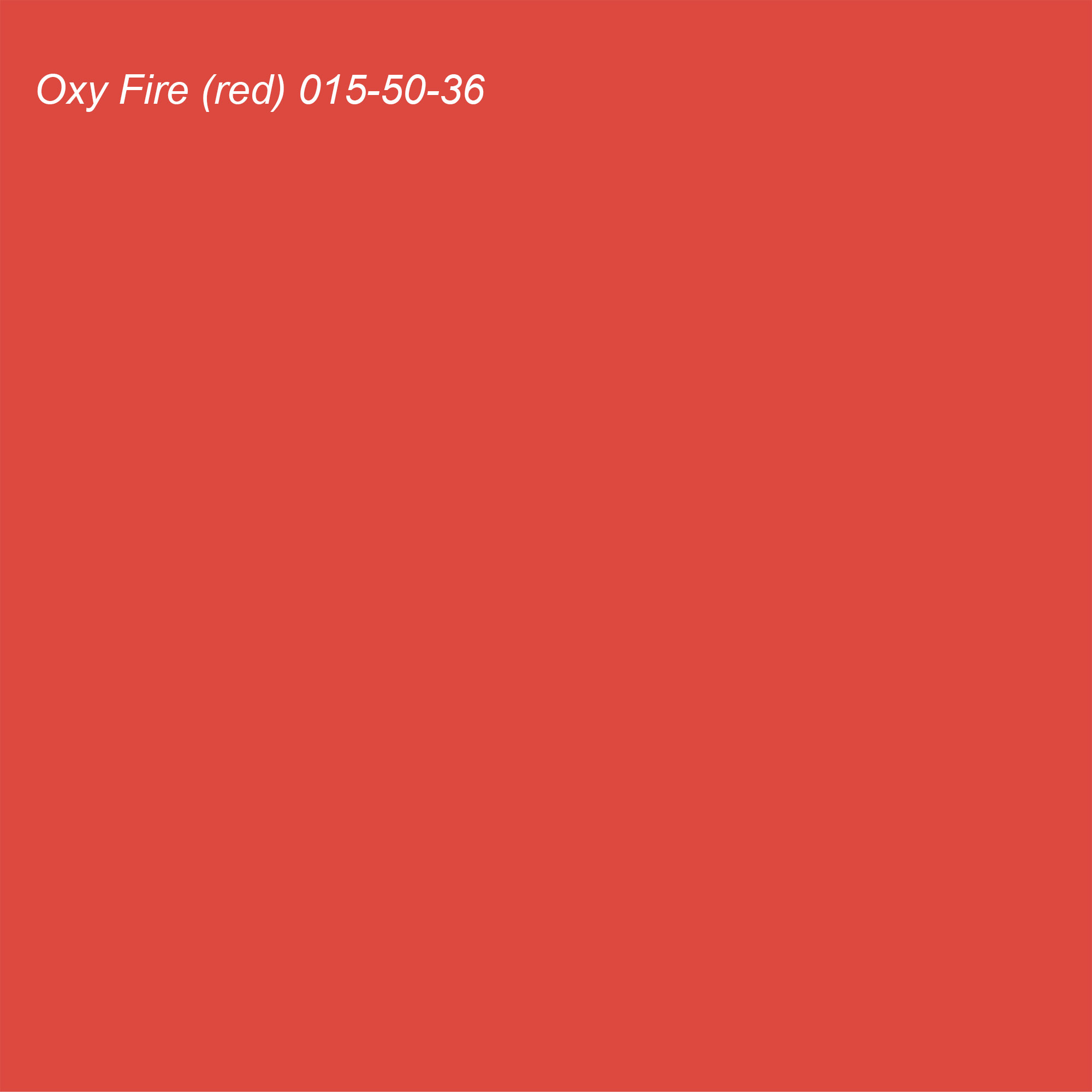 Coloro 2021 Color of the Year Suggested Accent Shade Oxy Fire (red) 015-50-36