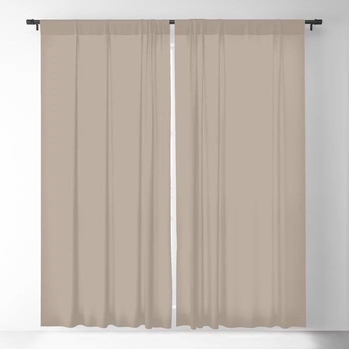 Comforting Brown Solid Color Pairs Farrow and Ball's 2021 Color of the Year Jitney 293 Blackout Curtain