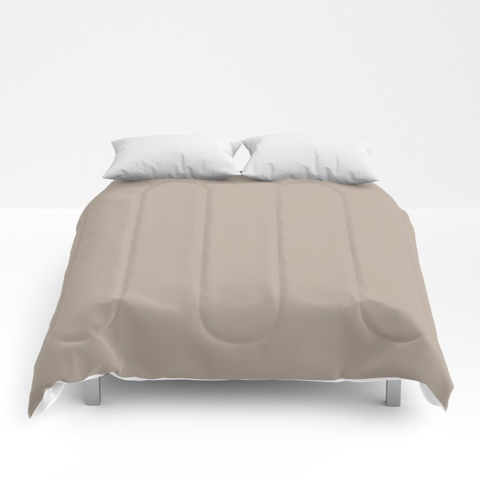 Comforting Brown Solid Color Pairs Farrow and Ball's 2021 Color of the Year Jitney 293 Comforters