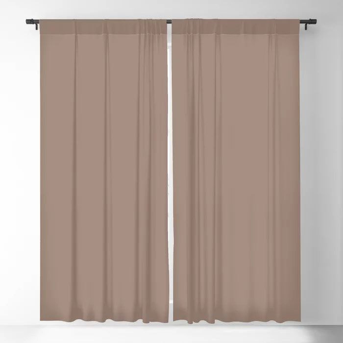 Dark Taupe Brown Solid Color Pairs To Behr's 2021 Trending Color Modern Mocha N150-4 Blackout Curtain
