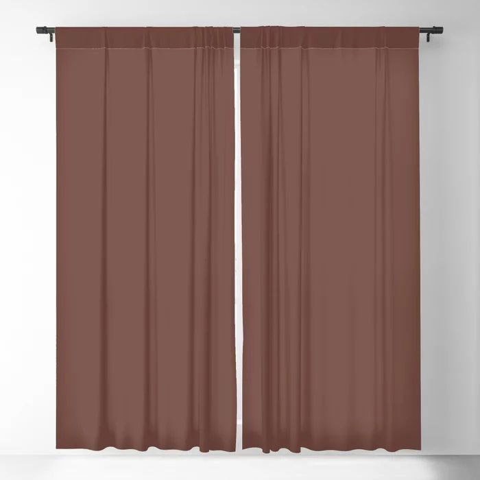 Dark Wine Solid Color Pairs Farrow and Ball 2021 Color of the Year Deep Reddish Brown No.W101 Blackout Curtain
