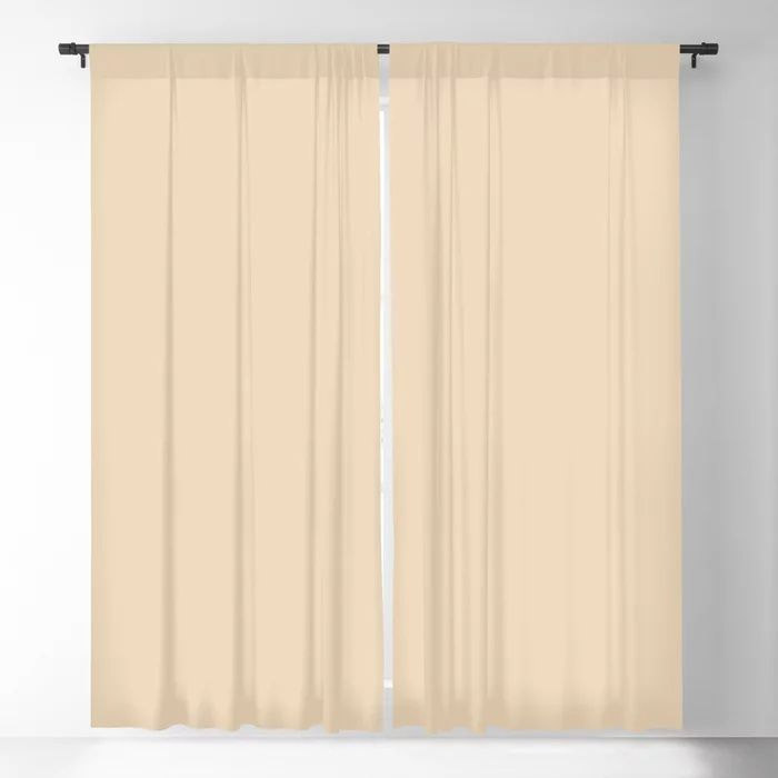 Delicate Pastel Peach Solid Color Pairs To Valspars 2021 Color of the Year Soft Candlelight 3005-6C Blackout Curtain
