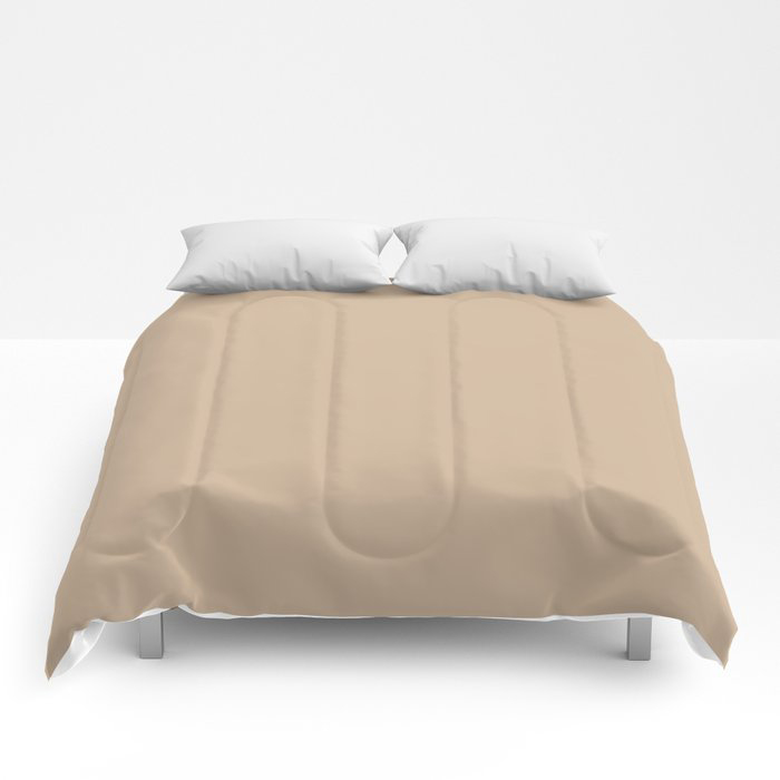 Down To Earth Beige Solid Color Pairs To Valspars 2021 Color of the Year Maple Leaf 2008-8B Comforters