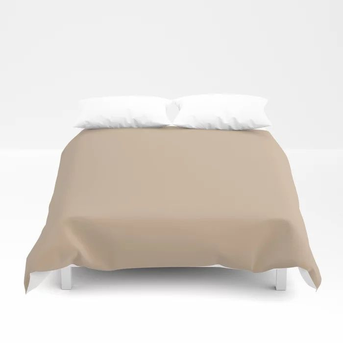 Down To Earth Beige Solid Color Pairs To Valspars 2021 Color of the Year Maple Leaf 2008-8B Duvet Cover