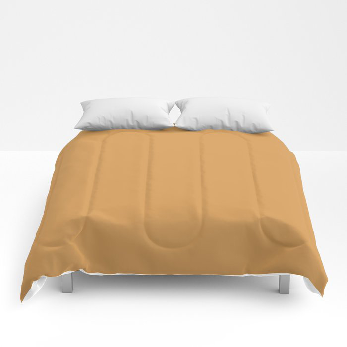 Golden Yellow Sunset Solid Color Pairs To Behr's 2021 Trending Color Saffron Strands PPU6-02 Comforters