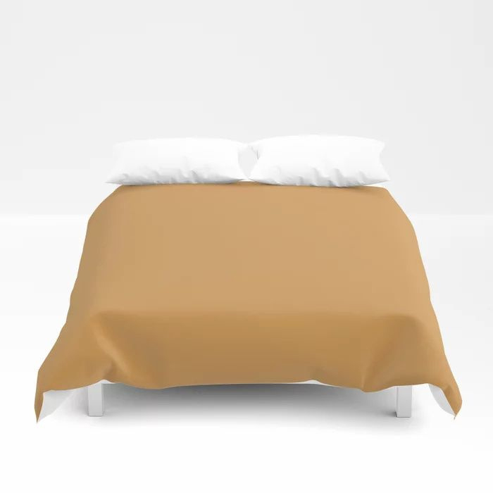Golden Yellow Sunset Solid Color Pairs To Behr's 2021 Trending Color Saffron Strands PPU6-02 Duvet Cover