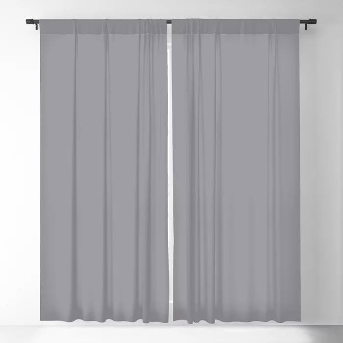 Modern Steel Gray Solid Color Pairs Pantone's 2021 Color of the Year Ultimate Gray 17-5104 Blackout Curtain