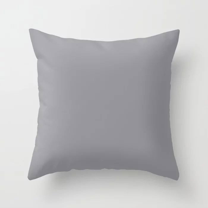 Modern Steel Gray Solid Color Pairs Pantone's 2021 Color of the Year Ultimate Gray 17-5104 Throw Pillow