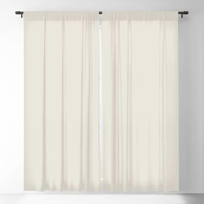 Off White Solid Color Pairs To Behr's 2021 Trending Color Smoky White BWC-13 Blackout Curtain