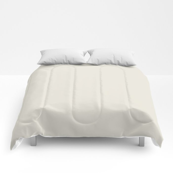 Off White Solid Color Pairs To Behr's 2021 Trending Color Smoky White BWC-13 Comforters