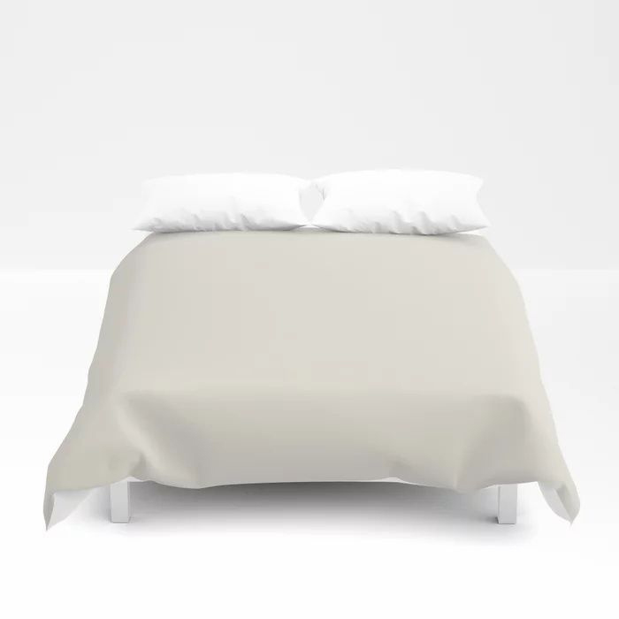 Off White Solid Color Pairs To Behr's 2021 Trending Color Smoky White BWC-13 Duvet Cover