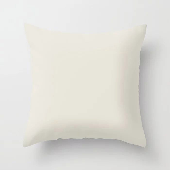 Off White Solid Color Pairs To Behr's 2021 Trending Color Smoky White BWC-13 Throw Pillow
