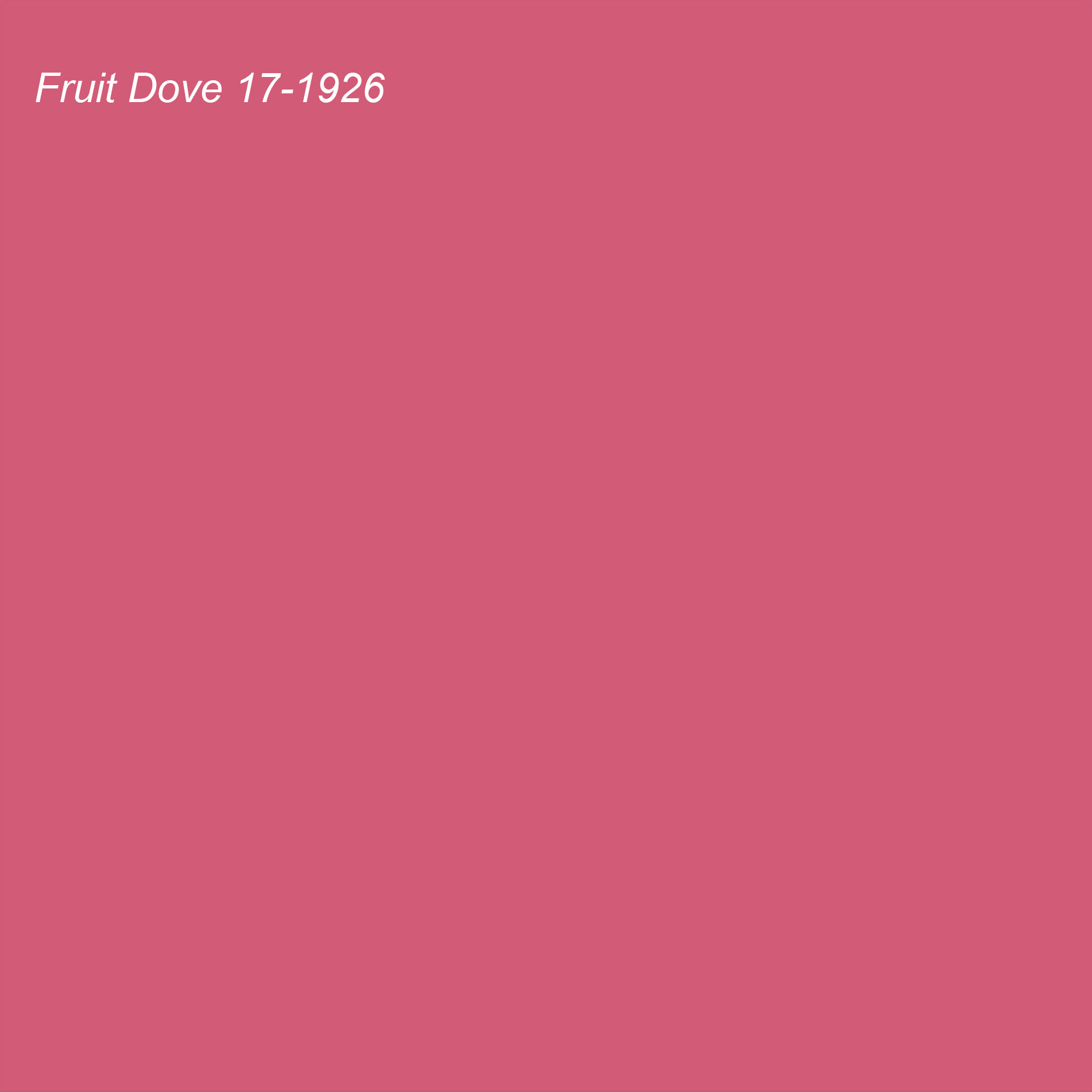 Pantone 2021 Color of the Year Suggested Accent Shade Fruit Dove 17-1926