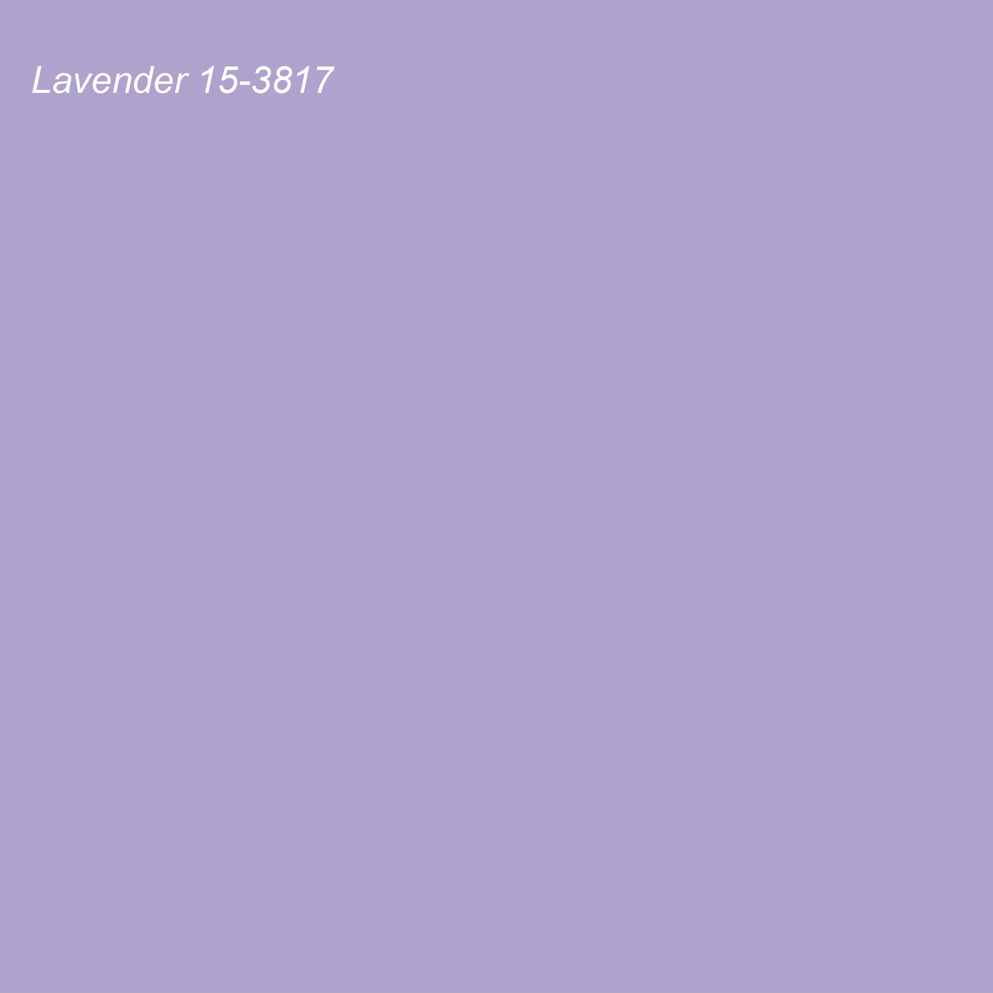 Pantone 2021 Color of the Year Suggested Accent Shade Lavender 15-3817