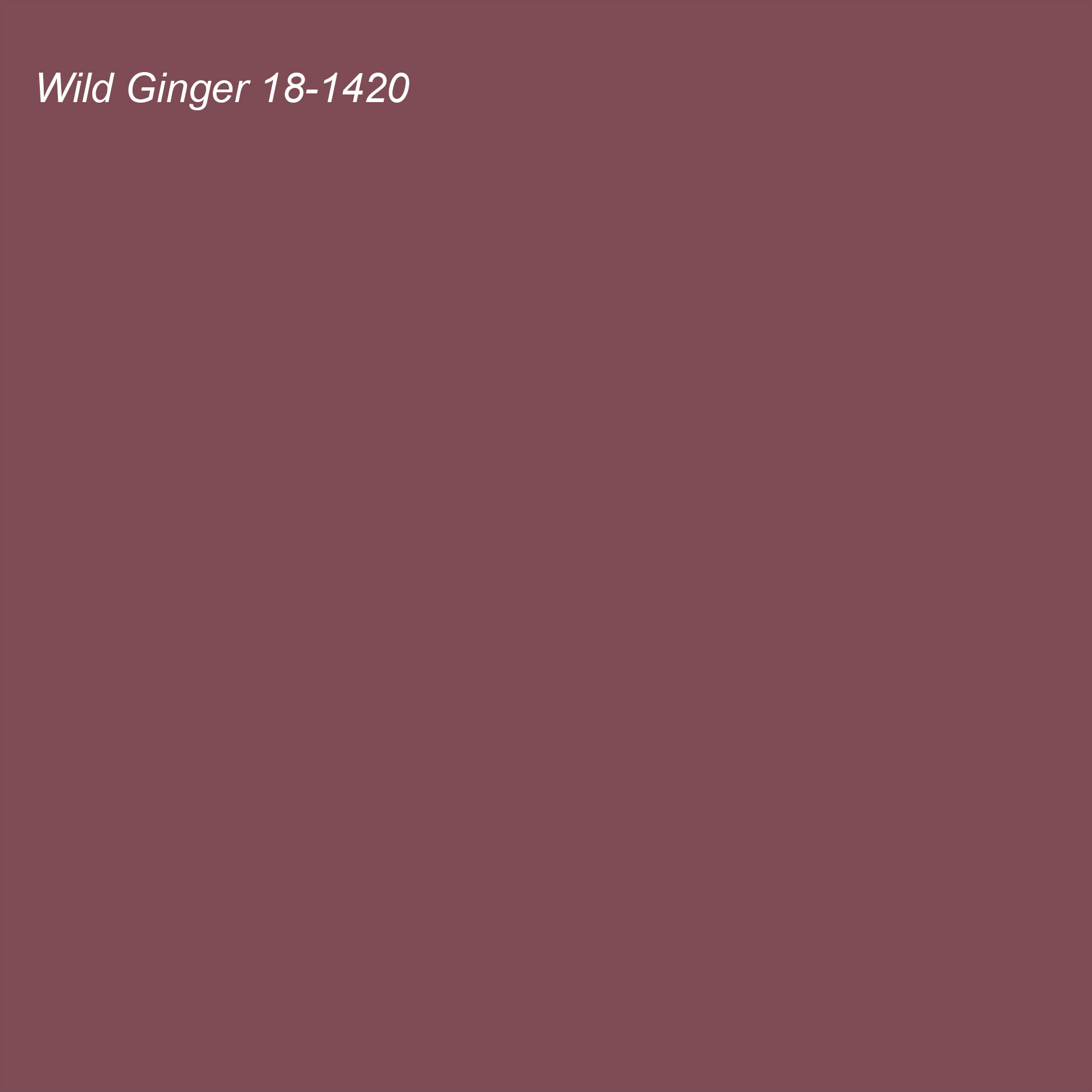Pantone 2021 Color of the Year Suggested Accent Shade Wild Ginger 18-1420