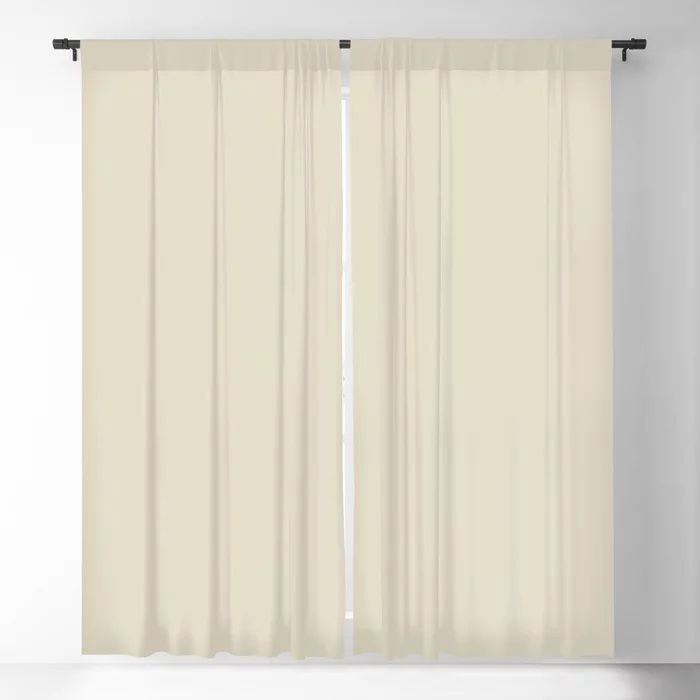 Softened Khaki Light Brown Solid Color Pairs To Valspars 2021 Color of the Year Unforgettable 7003-2 Blackout Curtain