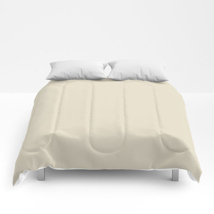 Softened Khaki Light Brown Solid Color Pairs To Valspars 2021 Color of the Year Unforgettable 7003-2 Comforters