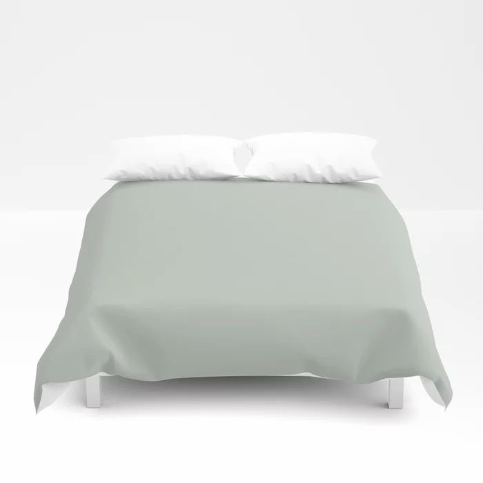 Spring Grass Green Solid Color Pairs To Valspars 2021 Color of the Year Garden Flower 5004-3B Duvet Cover