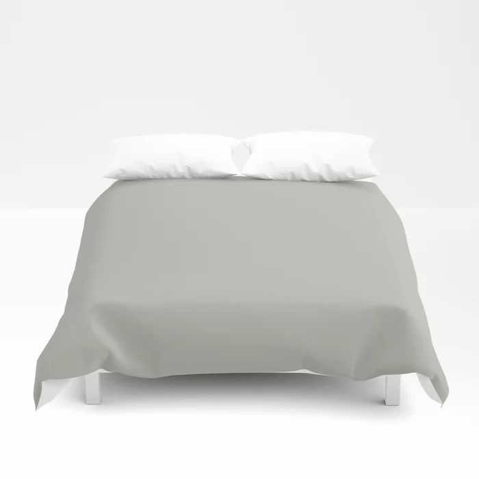 Stardust Gray Solid Color Pairs To Valspars 2021 Color of the Year Granite Dust 5006-1C Duvet Cover