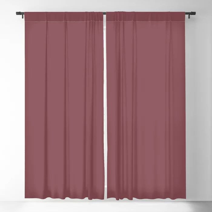 Succulent Red Wine Solid Color Pairs HGTV 2021 Color Of The Year Passionate HGSW2032 Blackout Curtain