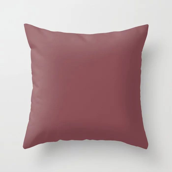 Succulent Red Wine Solid Color Pairs HGTV 2021 Color Of The Year Passionate HGSW2032 Throw Pillow