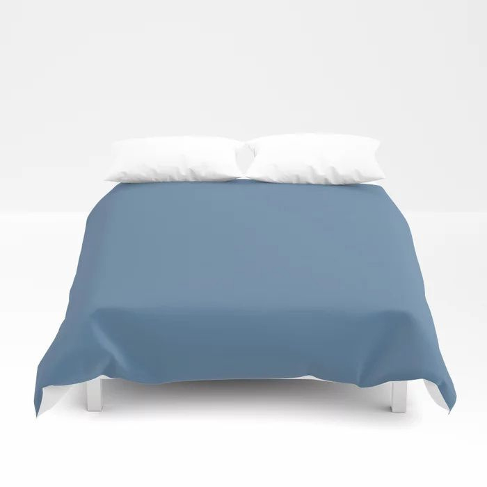 Summer Skies Blue Solid Color Pairs Farrow and Ball' s 2021 Color of the Year Ultramarine Blue W29 Duvet Cover