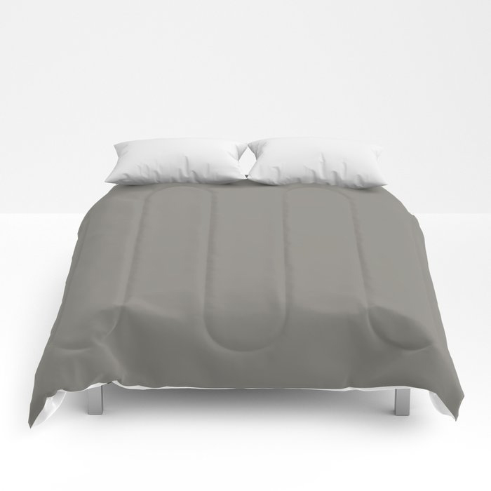 Weathered Wood Grey Solid Color Behr's 2021 Trending Color Barnwood Gray PPU24-07 Comforters