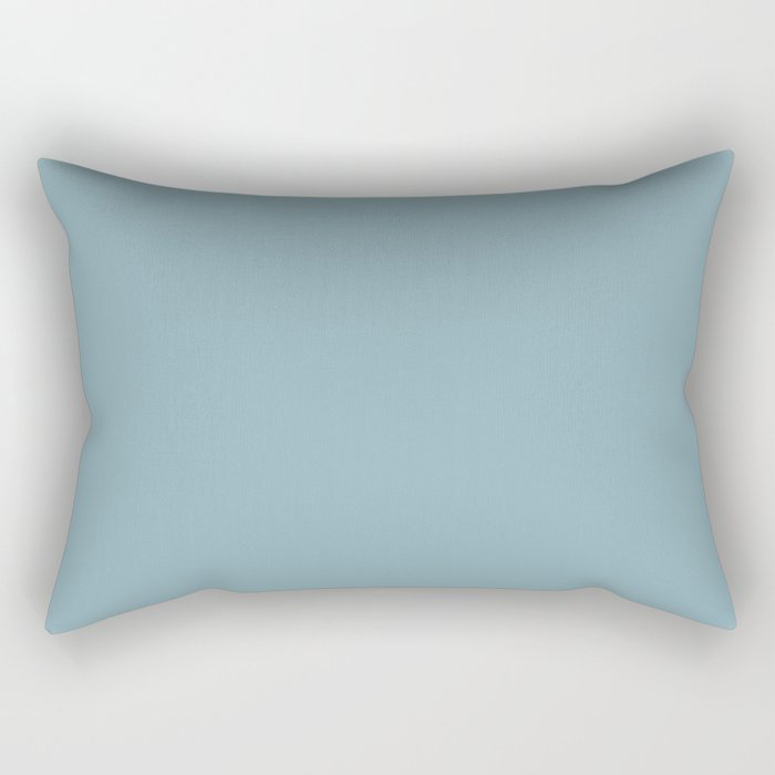 Angel Wings Blue Solid Color Pairs To Valspars 2021 Color of the Year Lucy Blue 5001-5C Rectangular Pillow