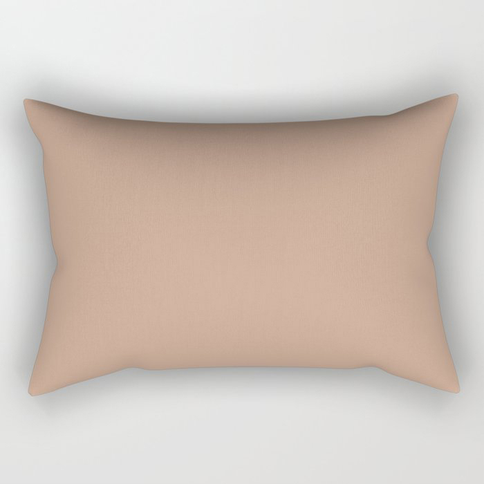 Blush Pink Solid Color Pairs To Behr's 2021 Trending Hue Canyon Dusk S210-4 Rectangular Pillow