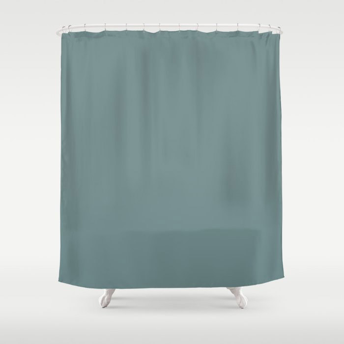 Cool Tropical Blue-Green Solid Color Pairs To Benjamin Moore Aegean Teal 2136-40 2021 Color of the Year Shower Curtain