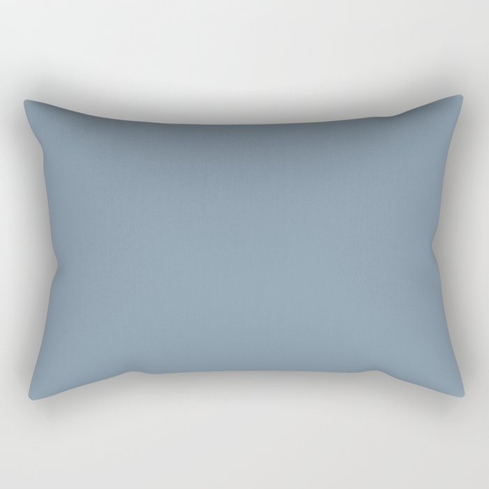 Dark Pastel Blue Solid Color Pairs To Behr's 2021 Trending Color Jean Jacket Blue S510-4 Rectangular Pillow