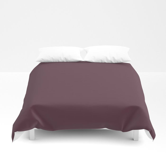 Deep Amethyst Purple Solid Graham and Brown 2021 Color of the Year Epoch Duvet Cover
