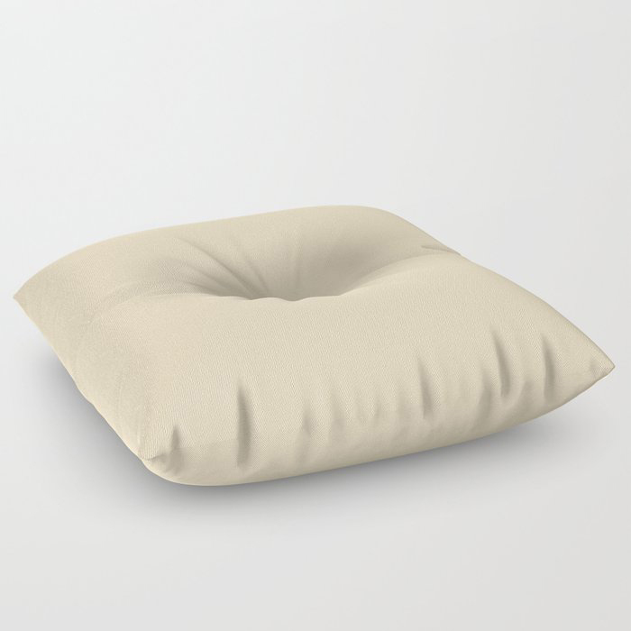 Delicate Pastel Peach Solid Color Pairs To Valspars 2021 Color of the Year Soft Candlelight 3005-6C Floor Pillow