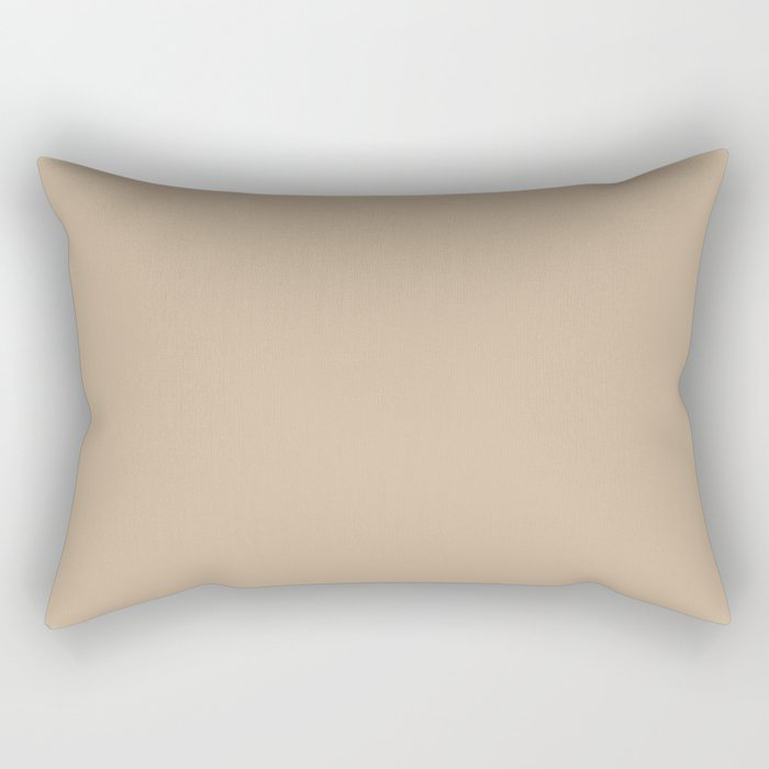Down To Earth Beige Solid Color Pairs To Valspars 2021 Color of the Year Maple Leaf 2008-8B Rectangular Pillow