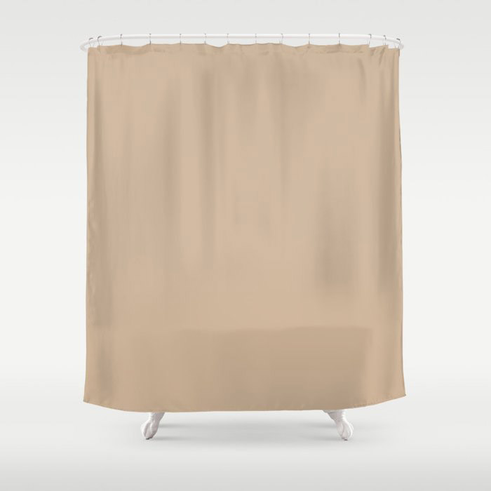 Down To Earth Beige Solid Color Pairs To Valspars 2021 Color of the Year Maple Leaf 2008-8B Shower Curtain