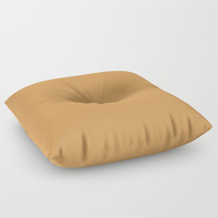 Golden Yellow Sunset Solid Color Pairs To Behr's 2021 Trending Color Saffron Strands PPU6-02 Floor Pillow