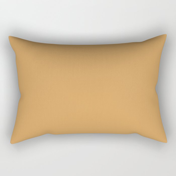 Golden Yellow Sunset Solid Color Pairs To Behr's 2021 Trending Color Saffron Strands PPU6-02 Rectangular Pillow