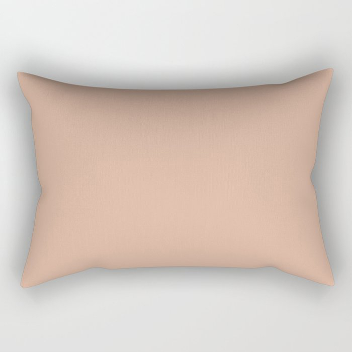 Just Peachy Solid Color Pairs To Valspars 2021 Color of the Year Arizona Dust 2003-8A Rectangular Pillow