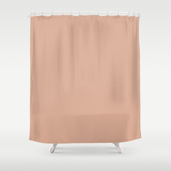 Just Peachy Solid Color Pairs To Valspars 2021 Color of the Year Arizona Dust 2003-8A Shower Curtain