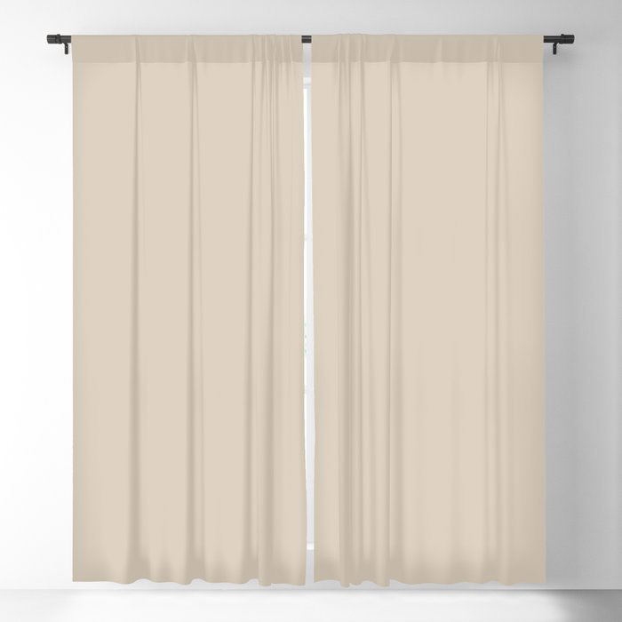 Light Beige Solid Color Jolie 2021 Color of the Year Uptown Ecru Blackout Curtain