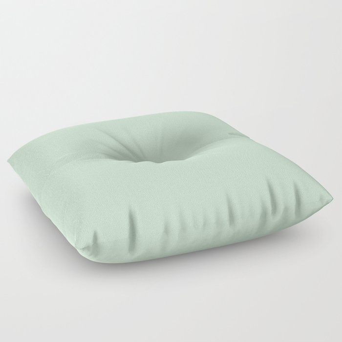 Minty Fresh Green Solid Color Pairs To Behr's 2021 trending color Wishful Green M410-2 Floor Pillow