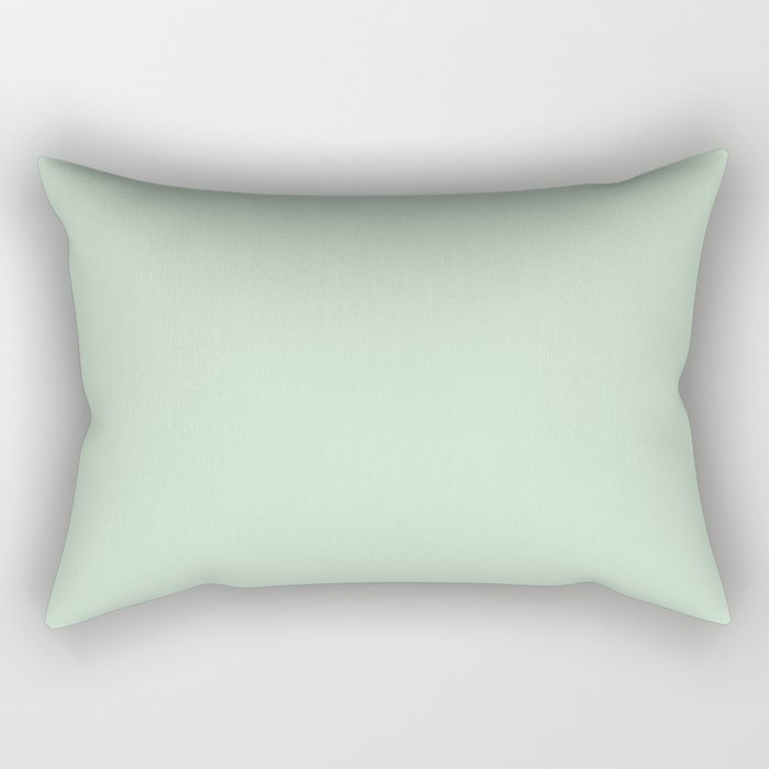 Minty Fresh Green Solid Color Pairs To Behr's 2021 trending color Wishful Green M410-2 Rectangular Pillow