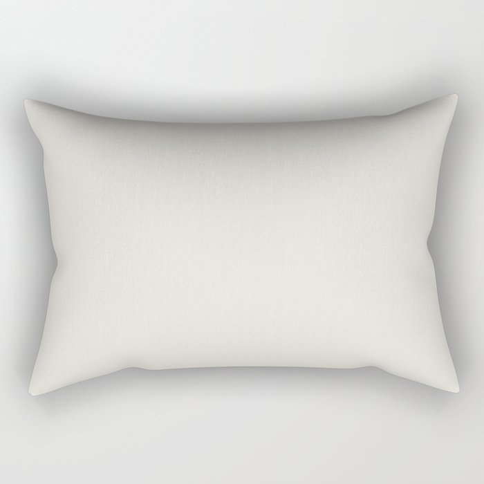 Off White Solid Color Pairs To Behr's 2021 Trending Color Smoky White BWC-13 Rectangular Pillow
