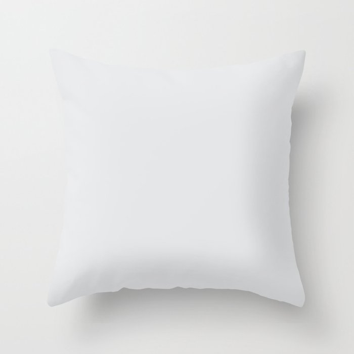 Pale Gray Solid Color Behr 2021 Color of the Year Accent Shade Dutch White MQ3-31 Throw Pillow