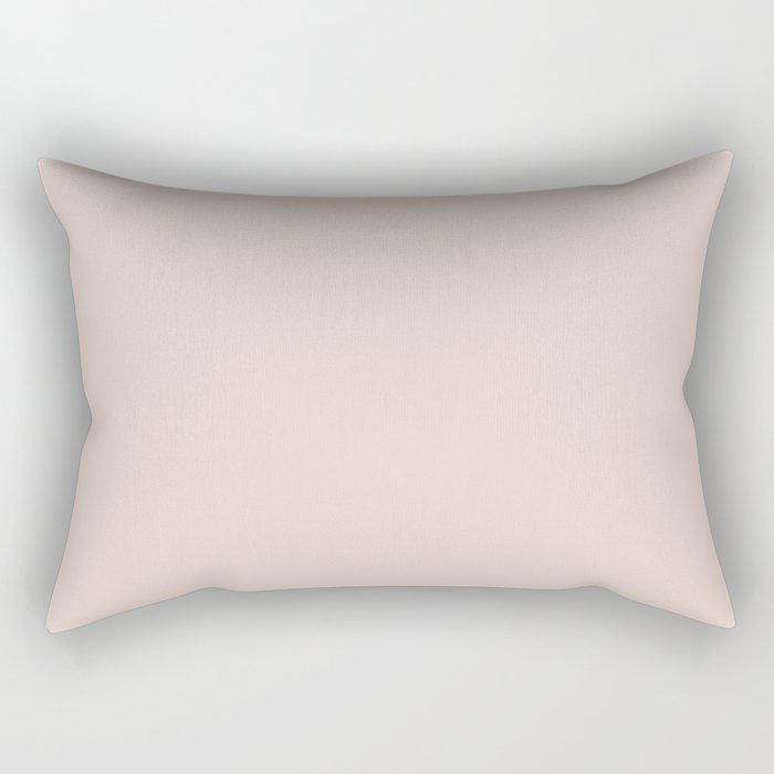 Pale Pastel Pink Solid Color Pairs To Behr's 2021 Trending Color Seaside Villa S190-1 Rectangular Pillow