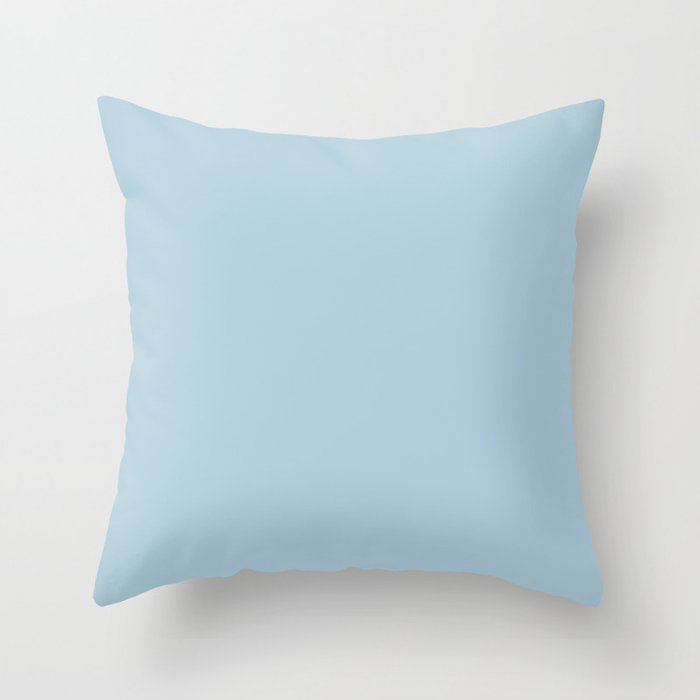 Pastel Blue Solid Color Behr 2021 Color of the Year Accent Shade Early September M500-2 Throw Pillow