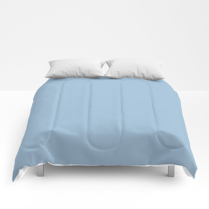 Pastel Blue Solid Color Dutch Boy 2021 Color of the Year Earth's Harmony Comforters