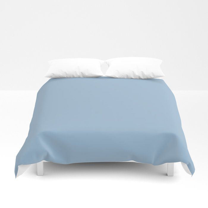Pastel Blue Solid Color Dutch Boy 2021 Color of the Year Earth's Harmony Duvet Cover
