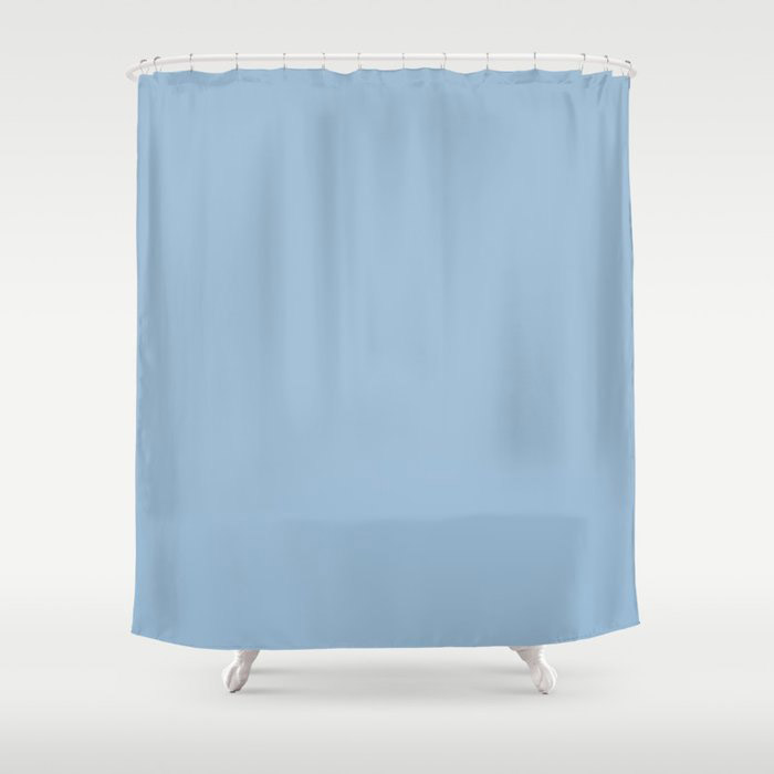 Pastel Blue Solid Color Dutch Boy 2021 Color of the Year Earth's Harmony Shower Curtain