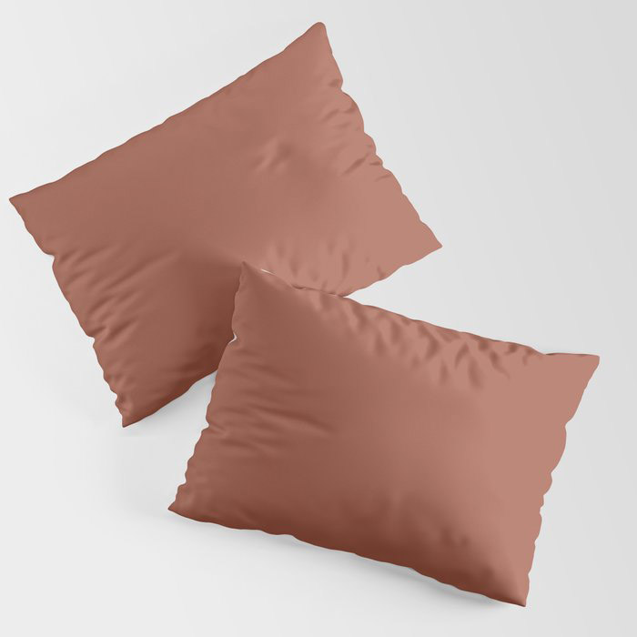 Red Clay Brown Solid Color Behr's 2021 Trending Color Kalahari Sunset MQ1-25 Pillow Sham
